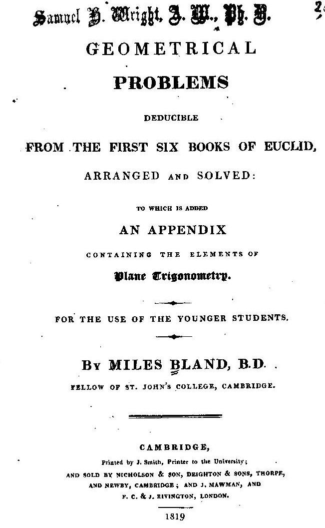 AColl Bland 1819 ed