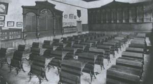 Waitaki Boys' High School Honours' Board Room, c. 1910. Ref: 2143_01_012A; Negative: c/nE6062/17. The Hocken Library, The University of Otago, New Zealand.