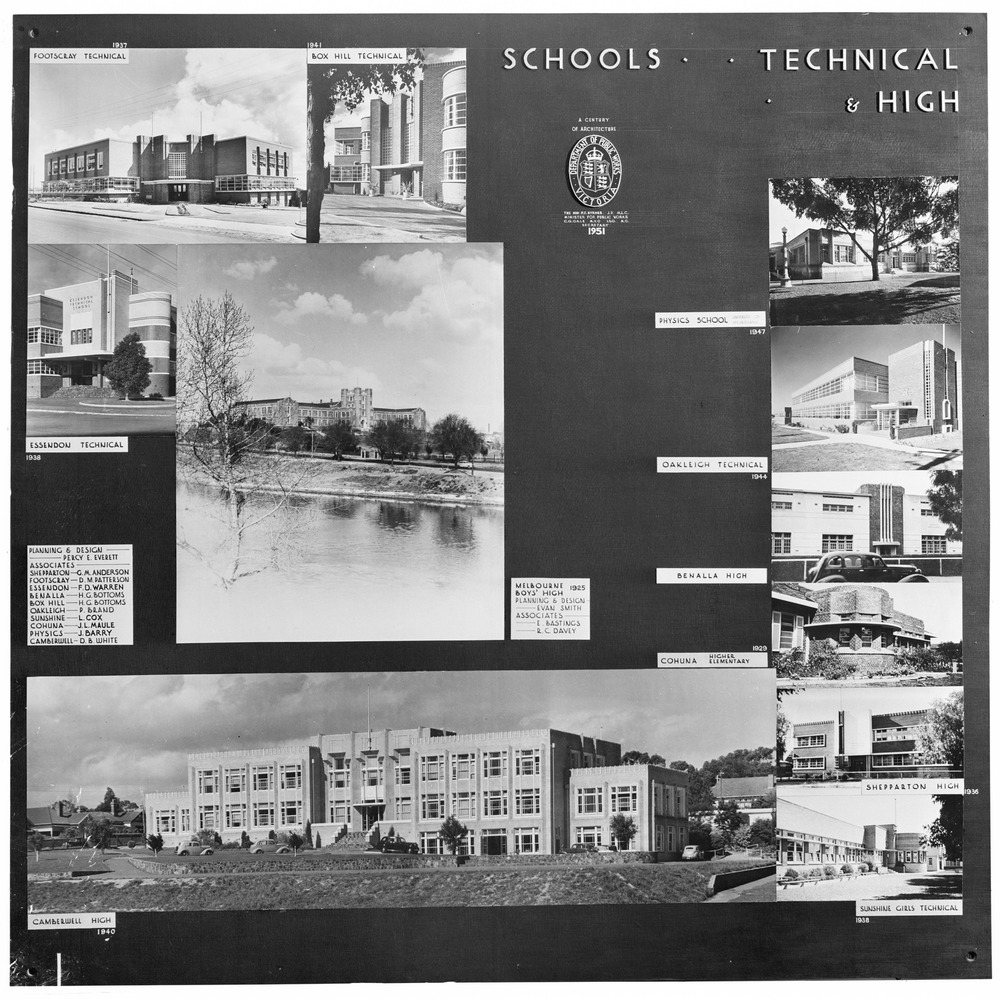 Secondary education in Victoria. Technical schools and high schools, 1950s. State Library of Victoria, H92.20/4036