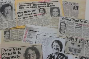 Newspaper clippings of Rona Joyner's activity in Queensland