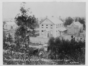 c1890. Catholic school and convent, Greymouth on west coast. Source: H.Poulton