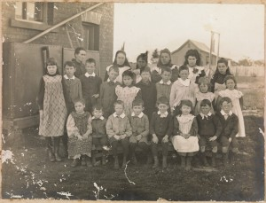 Teesdale Primary School, students and teachers subject to regime of payment by results, c. 1900. Courtesy, State Library of Victoria, H2013 248/11