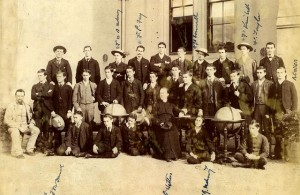 St Patrick's College Wellington 1893. Names on photo identify 8 students who became priests. https://teara.govt.nz/en/photograph/29285/catholic-schools-st-patricks-college-wellington