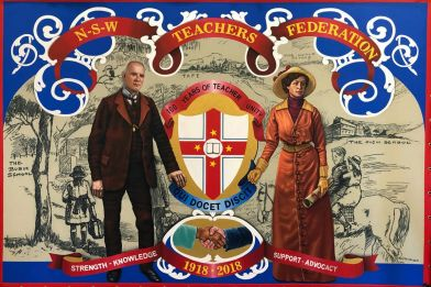 Centenary marching banner, 2018