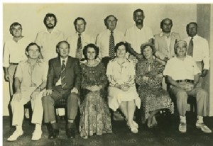 Figure 4: One of the many Disadvantaged Schools Program committees. Shirley Randell, federal Director (third from left, seated) and Jean Blackburn (second from right, seated). Photo courtesy Shirley Randell.