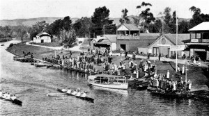 Rowing, the prestige sport for boys in a premier high school. On the River Torrens, Adelaide, 1916. From School Magazine, 8: 2, 1916.