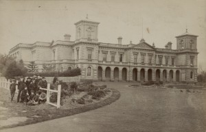 Wesley College in Melbourne, the Methodist public grammar school. c. 1905. State Library of Victoria