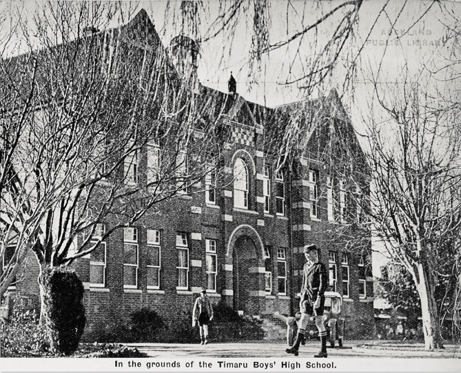 Timaru Boys' High School (1936). Thomas was Rector here from 1913 to 1935. Source: The Aucland Weekly News, Supplement, July 8, 1936