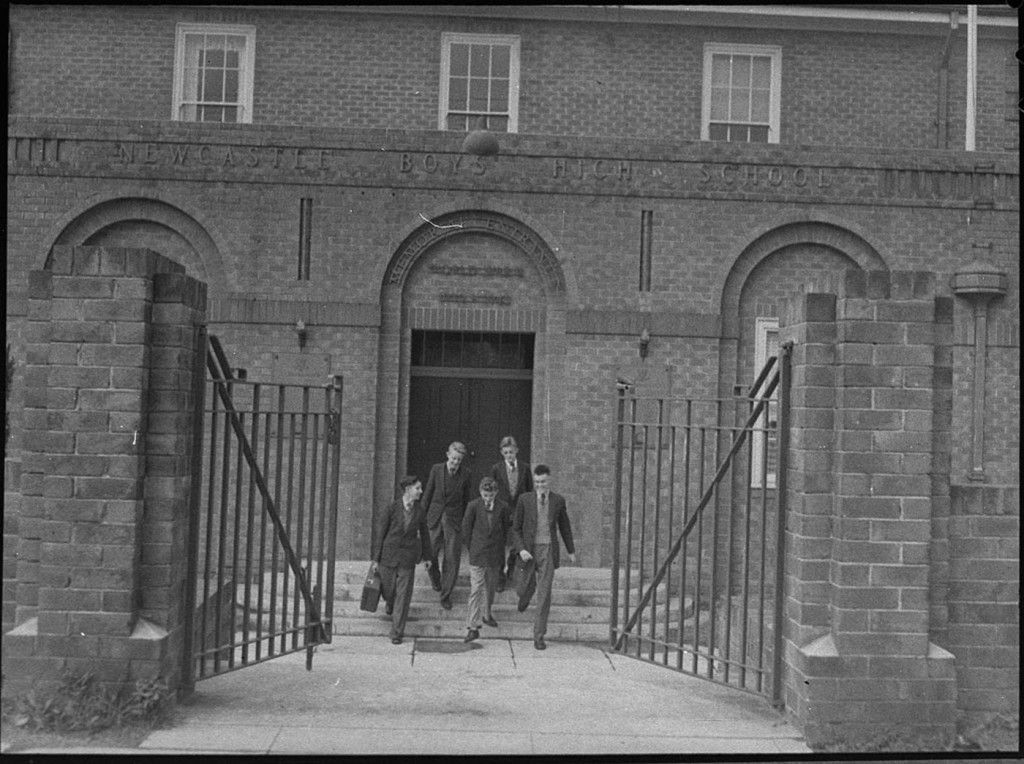 Newcastle Boys High School Memorial Entrance, August 1954, Waratah, NSW. Courtesy of the State Library of NSW.
