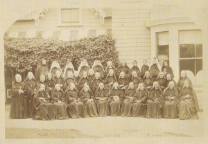 Sisters of Our Lady of the Missions outside St Mary's School Nelson, date unknown https://www.stjosephsnelson.school.nz/our-story/ Accessed 2 July 2018