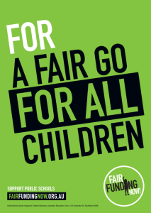 Promotional Poster for Fair Funding Now! Campaign