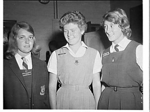 Fourth year students enjoying the enhanced educational opportunities that selective schools brought. Attending a science summer school, 1965. Photo Barry Doherty, SLNSW.