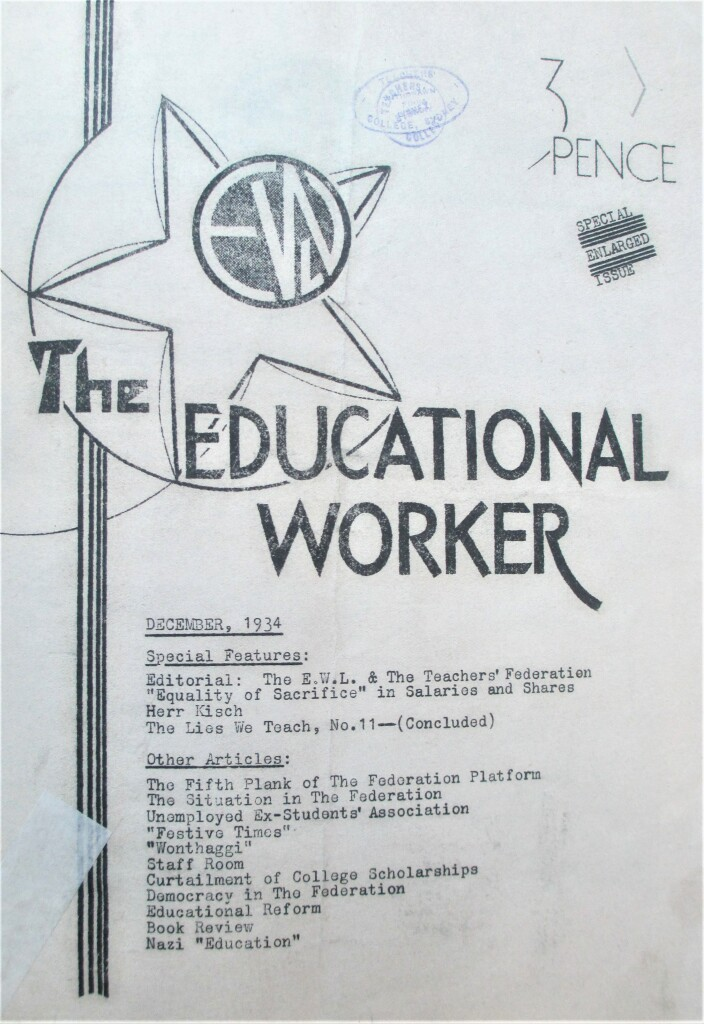 Cover, The Educational Worker, December 1934