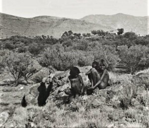Pitjantjatjara children living as part of the Prebyterian mission (Ernabella) in South Australia. c 1946. National Library of Australia PIC/14192/400