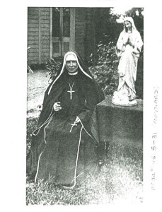 Mother Theophane McKain rndm (Religious de Notre Dame Missions) Photo courtesy of the Sisters of the Mission Archives New Zealand