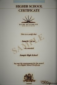 The credential as certificate. The Higher School Certificate.